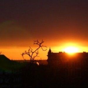 Sonnenuntergang Oder-Neiße-Radweg HotelFrankfurtOder